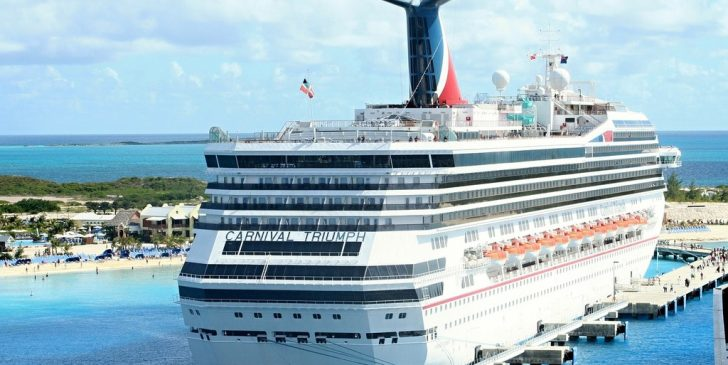 This is an image of a Carnival Triumph Cruise Ship at port