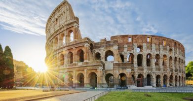 This is an image of the Rome Colosseum